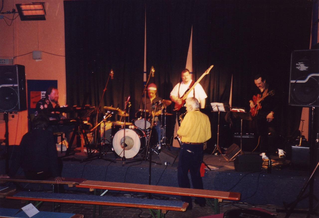 Udo Sailer mit Charlie Marino, Dave King, Werner Goos und Allen Blairman