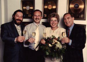 Udo Sailer, Andy Zahradnik (Sony Music), Marie-Luise Marjan, Fred van Geez